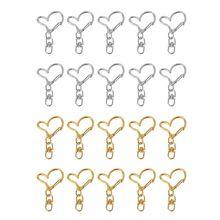 10Pcs DIY Metal Heart Keychain Swivel Lobster Clasp Snap Hook Jewelry Findings