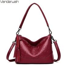 Модная дамская сумка на плечо с принтом, роскошные дизайнерские Элегантные сумки с кисточками для женщин, высококачественные кошельки и сумочки, сумка
