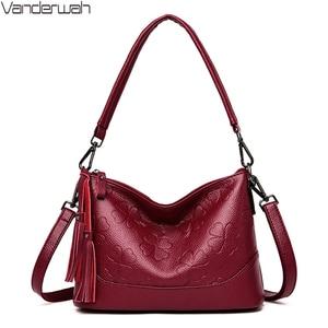 Image 1 - Fashion Printing Ladies Shoulder Bag Luxury Handbags Designer Elegant Tassel Bags for Women High Quality Purses and Handbags Sac