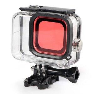 Image 2 - 3pcs מסנני Gopro גיבור 8 עמיד למים מקרה עמיד למים צלילה מסנן מצלמה אביזרי JR עסקות