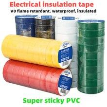 Fita elétrica de 5 pces, fita isolante, fita elétrica, fita impermeável de pvc ultra-fino e ultra-adesivo, 1 rolo de 9 metros