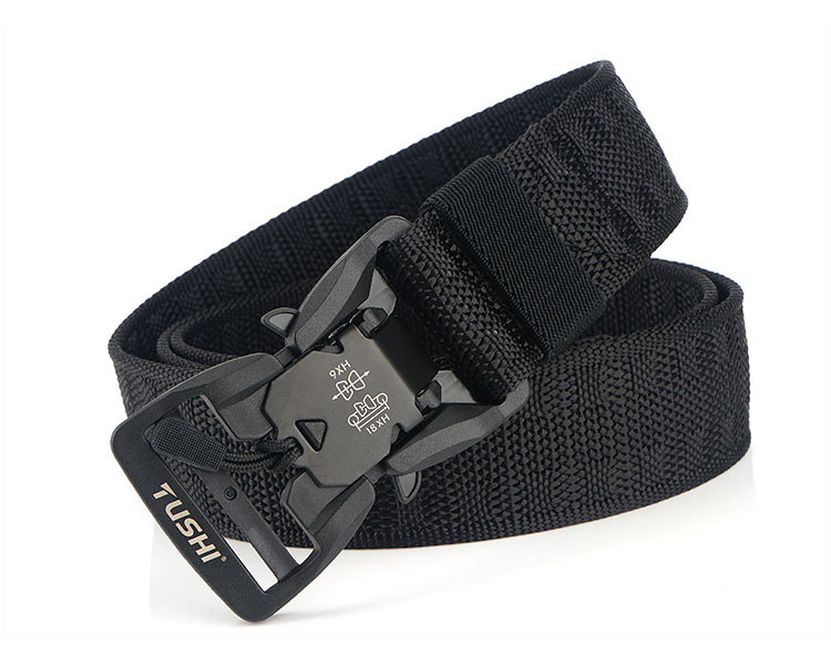 H41ebd860696542fe97c7a53d2aa9e38fx - HSSEE Official Genuine Tactical Belt Hard ABS Quick Release Magnetic Buckle Military Belt Soft Real Nylon Sports Accessories
