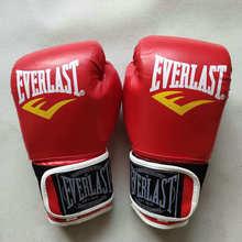 Боксерские перчатки EVE для взрослых, черные, красные и синие боевые искусства, бесплатные боевые перчатки, товары для фитнеса