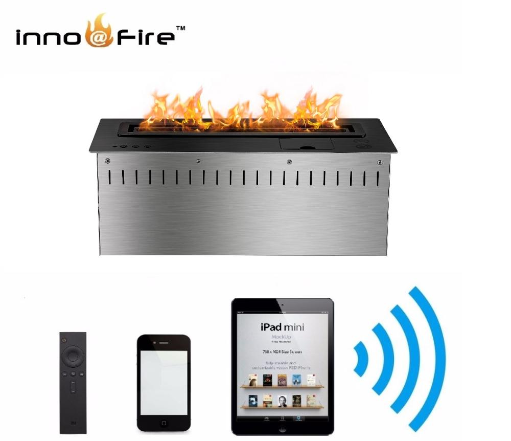 Hot Sale 18 Inches 18  Inch Wifi Real Fire Automatic Intelligent Smart Ethanol Bio Kamin