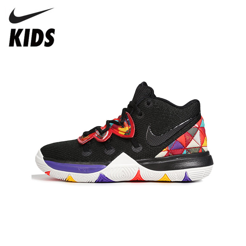 Nike Kyrie 5 Cny Children Erwin 5 Original Kids Shoes Comfortable Basketball Shoes Lightweight Sneakers #AQ2458