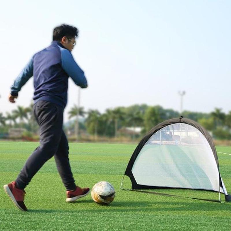1piece Black Folding Football Goal Net Training Goal Net Kids Outdoor Indoor Play Toy