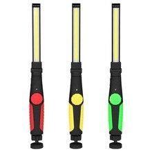 Модернизированный Вращающийся складной портативный COB флэш-светильник фонарь USB Перезаряжаемый светодиодный рабочий светильник Магнитный фонарь COB портативный точечный светильник