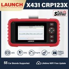Launch X431 CRP123X OBD2 스캐너 진단 검사 도구 자동차 진단 스캐너 자동 코드 리더 ENG ABS SRS WIFI 업데이트