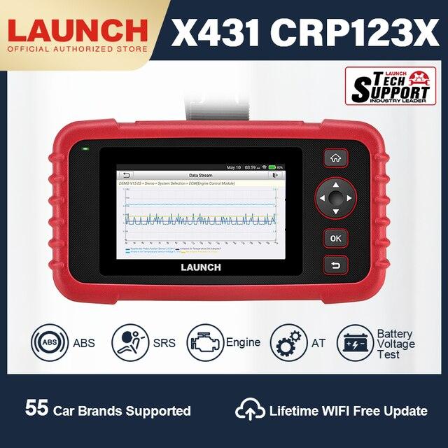 השקת X431 CRP123X OBD2 סורק אבחון סריקת כלי רכב אבחון סורק אוטומטי קוד קורא ENG ABS SRS באופן WIFI עדכון