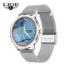 LIGE – montre connectée de luxe pour femmes, moniteur de fréquence cardiaque, de pression artérielle, rappel dappel, bracelet de Sport personnalisé, étanche, à la mode, nouveau