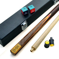 Handmade 18oz Ash Wood Billiards Snooker Pool Cue Stick Set with Joint Protector Cue Towel Packaging and Extension Club