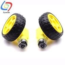 Одна пара = 2 шт. TT Motor+ 2 шт. Колесо для Arduino Diy Kit колеса умный автомобиль двигатель для шасси роботизированное Дистанционное управление автомобиль DC gear Motor