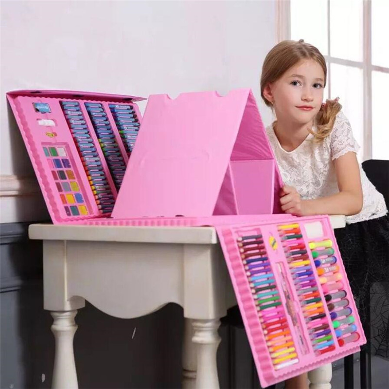 176PCS Creative Painting Graffiti Paint Brush Set Fashion Children Daily Entertainment Toy Art Sets Christmas Gift For Kids