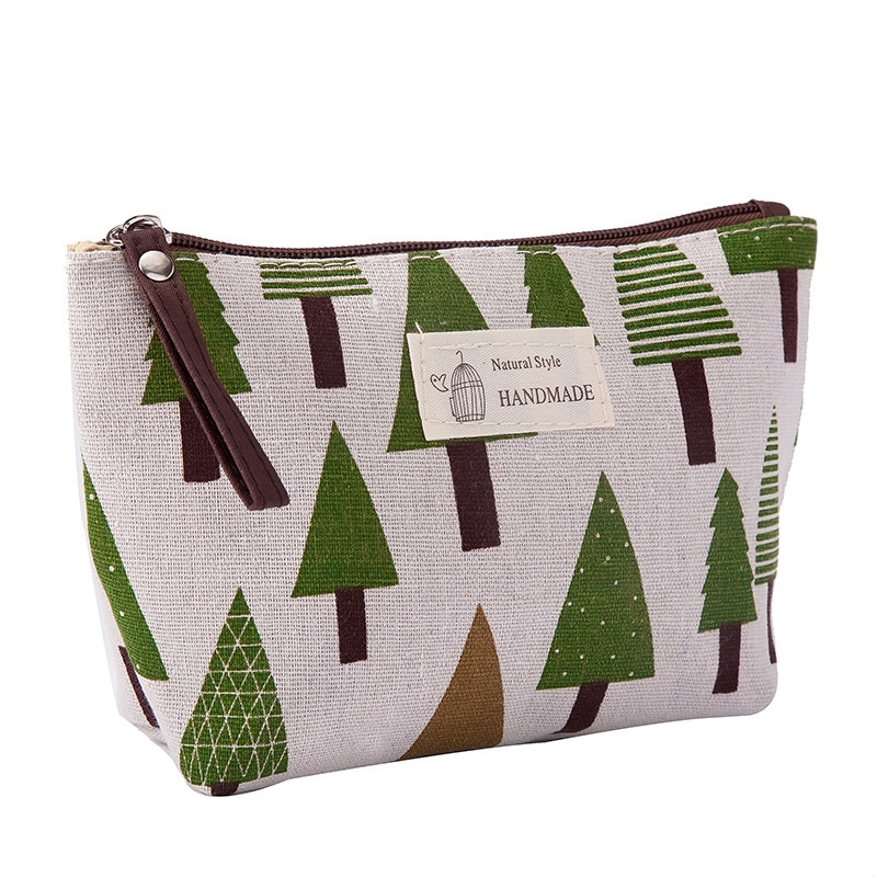 Women Plaid Travel Cosmetic Bag Makeup Bags Handbag Female Zipper Purse Small Make Up Bags Travel Beauty Organizer Pouch