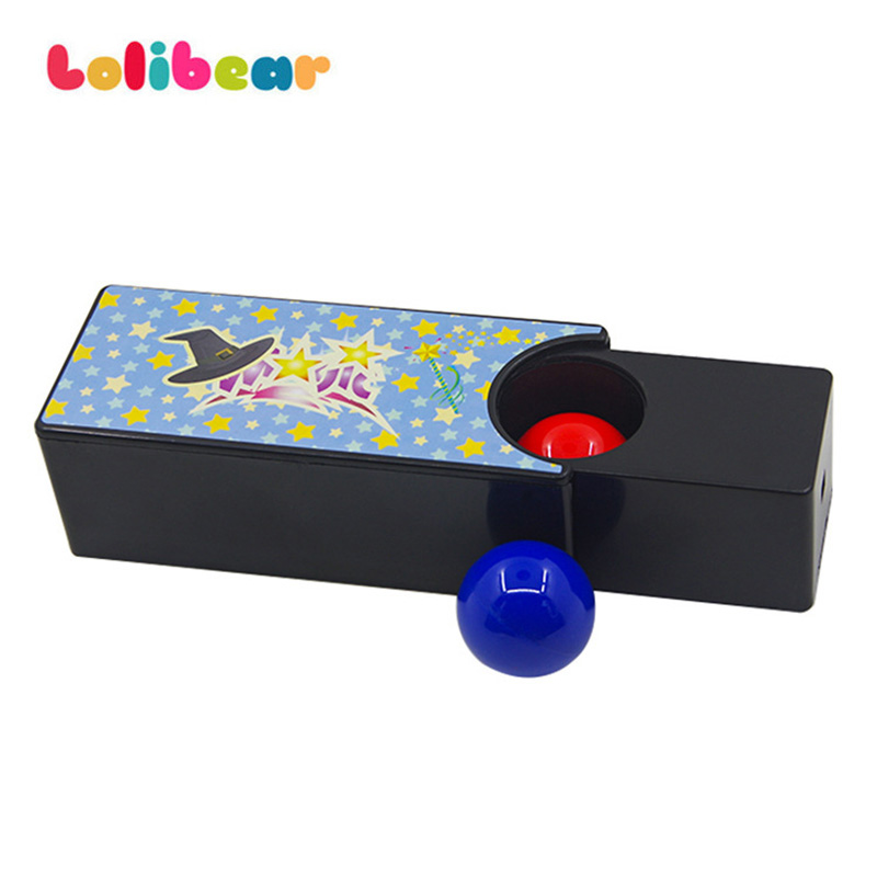 Box Turning The Red Ball Into The Blue Ball(Random Color) Magic Tricks Close Up Magia Mystery Box Magie Gimmick Prop Toy For Kid