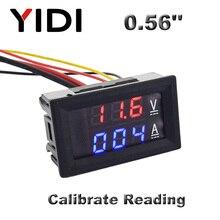 0,56 ''цифровой вольтметр Амперметр постоянного тока 0-100 в AC60-500V 1A 10A 50A 100A Красный Синий светодиодный дисплей измеритель напряжения тока тестер детектор