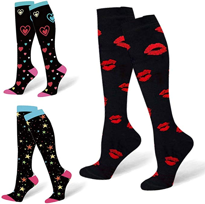 Unisex Socks Compression Stockings Pressure Varicose Vein Stocking Knee High Leg Support Stretch Pressure Circulation