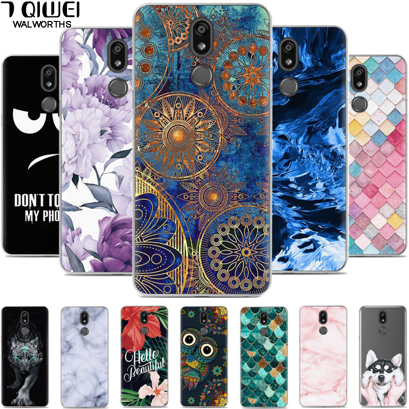 For LG K40 Case Soft Silicone Owl TPU Back Cover for LG K12 Plus Case Coque LG K40 2019 LGK40 K 40 phone cases <font><b>K12Plus</b></font> Funda image