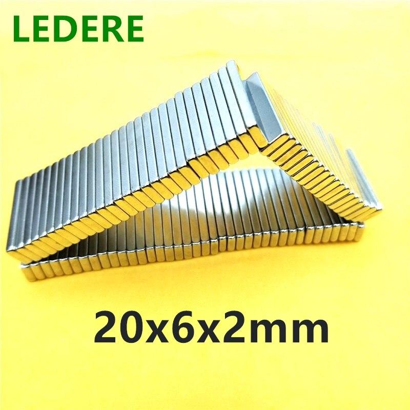 5/10/20/100 шт., внешний диаметр 20x6x2 мм, сильный магнитный стандарт 20*6*2 мм/20 мм x 6 мм x 2 мм