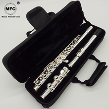 Музыка Fancier клуб флейта 311 321 322 362 371 372 381 382 с серебряным покрытием C ноги 16 закрытых отверстий E ключ