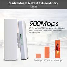 COMFAST CF-E313AC 900Mbps kablosuz erişim noktası köprü 5Km uzun menzilli açık WIFI CPE 5.8G 12dBi WI-FI anten Nanostation yönlendirici güçlendirici