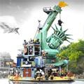 45014 фильм Seies Статуя Свободы Добро пожаловать Apocalypseburg строительный блок кирпичи совместимые Legoings фильм 2