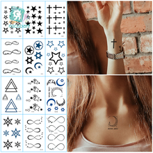 Temporary-Tattoo-Stickers Body-Art Sexy Fake Black Women for Arm Clavicle Hand Taty Various