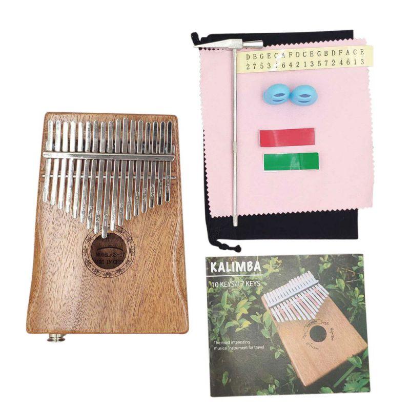 17 Key Kalimba African Solid Mahogany Thumb Finger Piano 17 Keys Solid Wooden Musical Instruments For Beginner