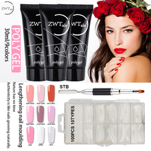 ZWTale  Poly Gel Set LED UV Varnish Nail Polish Art Kit Quick Building For Nails Extensions Hard Jelly Polygel Clear