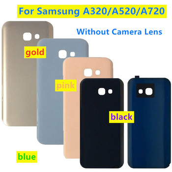 Back Door Rear Glass Battery Cover Replacement For Samsung A3 A5 A7 2017 A320 A520 A720 A320F A520F A720F Battery Back Case image