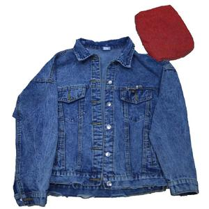 модная женская джинсовая куртка ручная кисть с длинным рукавом стрейч короткая джинсовая куртка Белый Розовый пальто