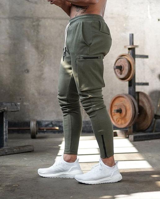 Joggers Men 2020 Streetwear Trousers Multiple Zipper Pockets Muscle Mens Pants , Sweatpants Tracksuit 20CK19 4