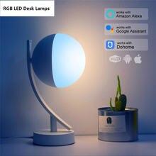 Светодиодные настольные лампы rgb умный ночник с голосовым управлением