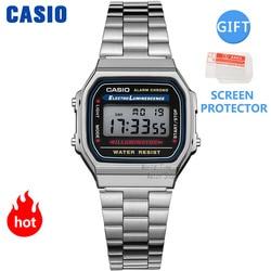 Casio watch silver watch men set brand luxury LED digital Waterproof Quartz men watch Sport military Wrist Watch relogio masculi