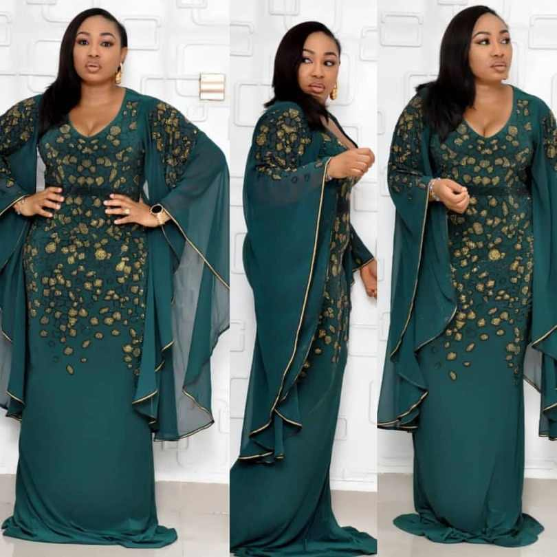 150 centimetri di lunghezza Abiti Africani Per Le Donne Abbigliamento Africa Musulmano Vestito Lungo di Modo di Lunghezza Dashiki Africano Vestiti Vestito Per La Signora