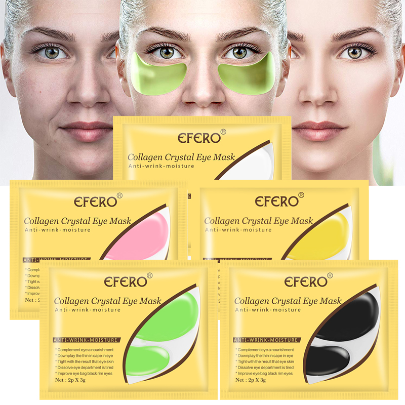 Collagen Eye Mask Remove Dark Circles Anti Wrinkle Fine Lines Eye Bags Patch For Eye Crystal Eye Pads Sheet Masks Firm Skin Care