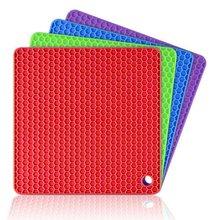 Многофункциональная силиконовая изоляционная прокладка квадратная сотовая силиконовая Нескользящая изоляционная прокладка квадратная подставка под тарелку
