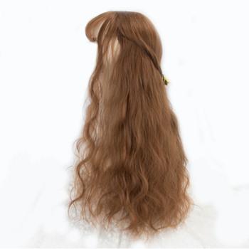 WEILAI peruka kobiety długie kręcone włosy faliste włosy zestaw air bangs netto rude włosy naturalne na całą głowę długie kręcone włosy do włosów peruki syntetyczne tanie i dobre opinie Wysokiej Temperatury Włókna 120 Średnia wielkość