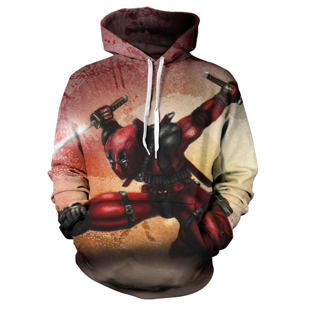 Fashion 3D Print Super Hero Deadpool Hoodie Casual Hoodie Sportswear Hooded Sweatshirt  Anime Character Hoodie 2020 The New