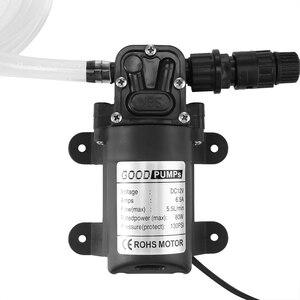 Image 5 - עמיד DC 12 V 130PSI חקלאי חשמלי מים משאבת שחור מיקרו גבוהה לחץ סרעפת מים מרסס שטיפת מכוניות 12 V