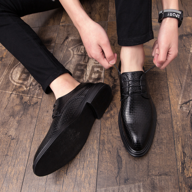 Mens Shoes Casual Luxury Leather Shoes Male Comfortable Dress Shoes Fashion Leisure Walk Formal Shoes Prom Evening Long Dresses 4