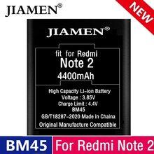 Аккумулятор для Xiaomi Redmi Note 2, 4400 мАч, литий-ионный аккумулятор для замены Note 2, оригинальные батареи для телефона BM45