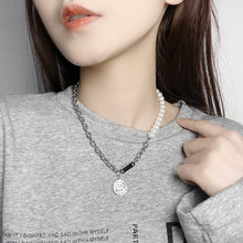 Fashion Catholic Saint Benedict Pearl Pendant Necklace Sweater Chain for Girl Women Bijoux Charms Women for Wedding Jewelry