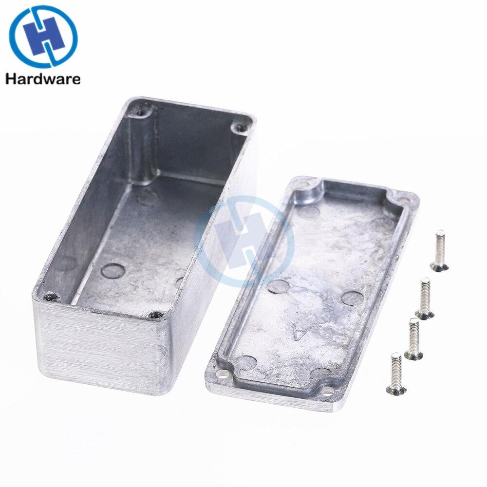 1pc Silver Aluminium Enclosure Case 1590A Mini Electronic Project Box 92x38x31mm