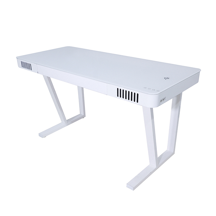 Large Size Office Desk Table Smart Study Desk Home Laptop Computer Desk With Bluetooth Speaker Wireless Charging Music Table