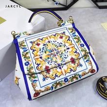 2019 Luxury Women Bag Brand design Shoulder Bag  Handbag Fashion Crossbody Bag Genuine Leather Purse Flowers pattern Ladies Bag все цены