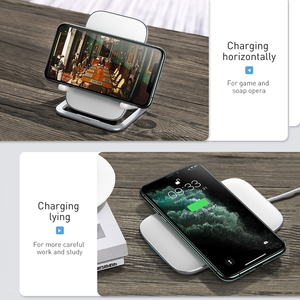 Image 2 - Baseus 15W Fast Qi Wireless Charger Desktop Holder Wireless Charger Pad For iPhone11XS X Max For SamsungS10 S9 Stand Charger