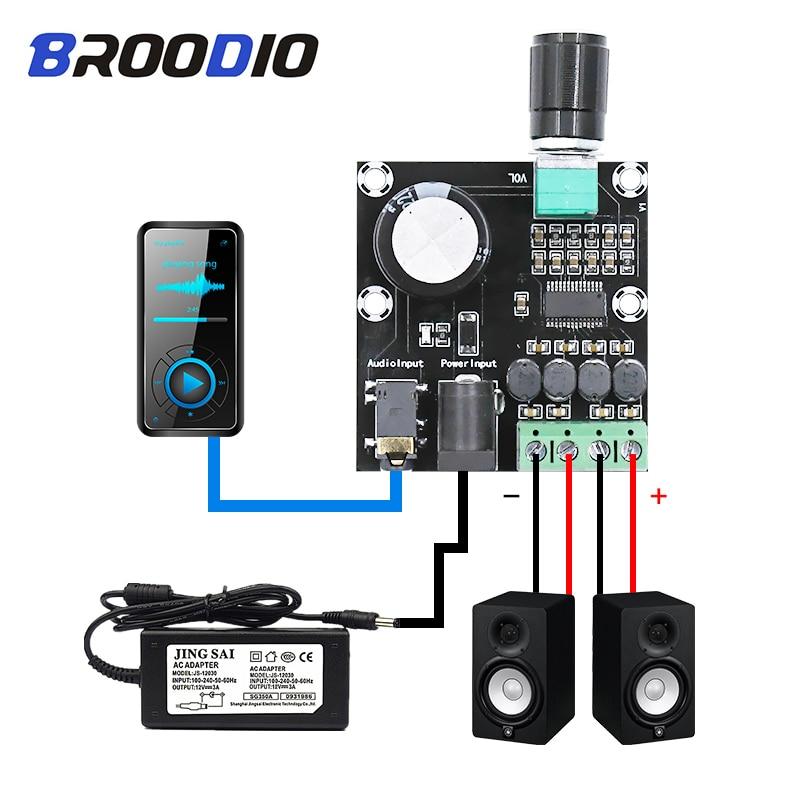 HiFi Dual Amplifier Board 2*15W Digital HD Stereo Amplifiers For Desktop  Speaker Electronic DIY DC8-24V Audio Amplificador AUX