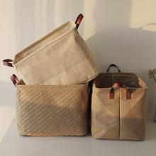 Nordic Style Laundry Basket Clothes Organizer Storage Basket Large Cotton Linen Home Sundries Storage