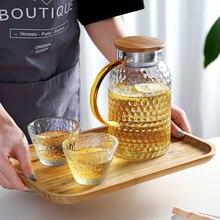 Кувшин для воды Oneisall, стеклянный кувшин для воды, 1500 мл, термостойкий кувшин для воды, квадратный чайник для кипячения чая, домашний диспенсер